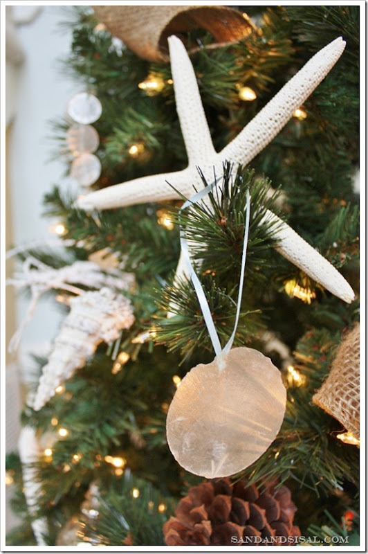 Diy Capiz Ornaments Sand And Sisal