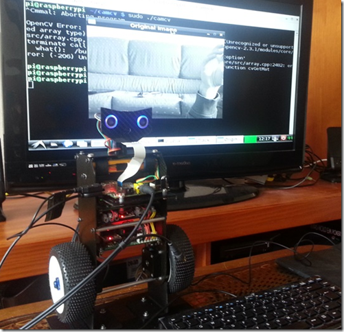 RS4 Self balancing Raspberry Pi image processing Robot