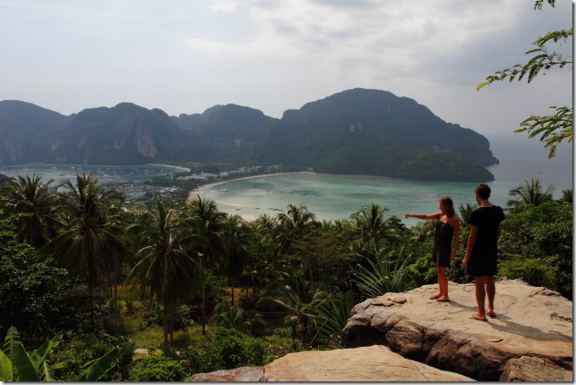 Enjoying the view from Ko Phi Phi view point