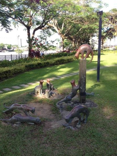 A cat statue