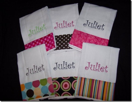 Juliet Burp Cloth