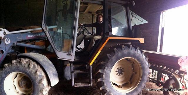 Ben on tractor