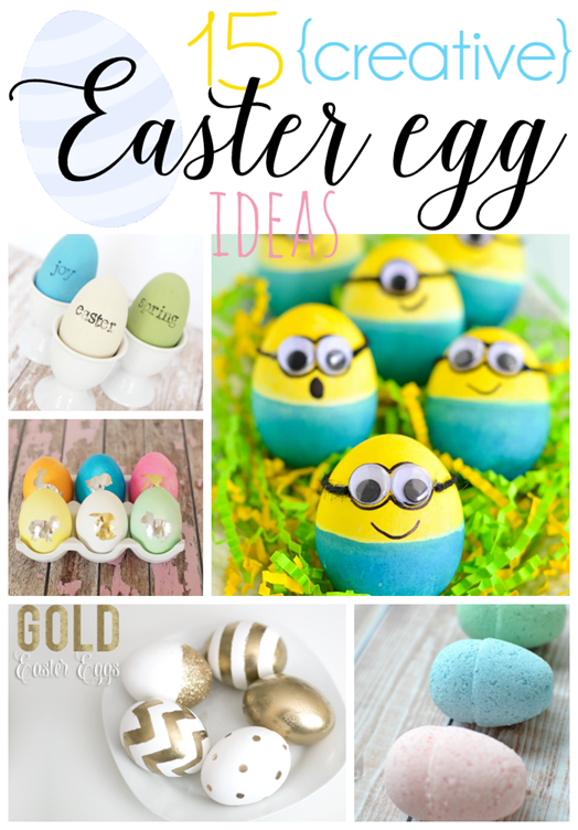 15 Creative Easter Egg Ideas at GingerSnapCrafts.com #Easter #eggs #linkparty #features