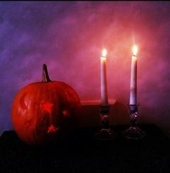Boo! #halloween #allhallowseve #pumpkin #jackolantern #candles #spooky