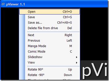 pViewer aprire immagini