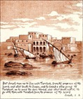 The flight of Jonah to Joppa