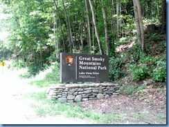0419 North Carolina - Lakeview Drive - 'The Road to Nowhere' - Smoky Mountain National Park Entrance sign