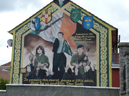 Obiective turistice Irlanda de Nord: murals Belfast
