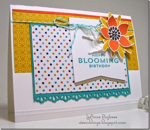 LeAnne Pugliese WeeInklings Flower Patch Mojo Monday Stampin Up