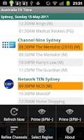 Screenshot of Australia TV Time