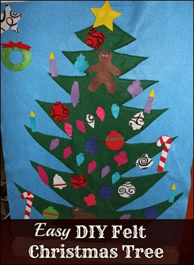 Many Waters Easy DIY Felt Christmas Tree