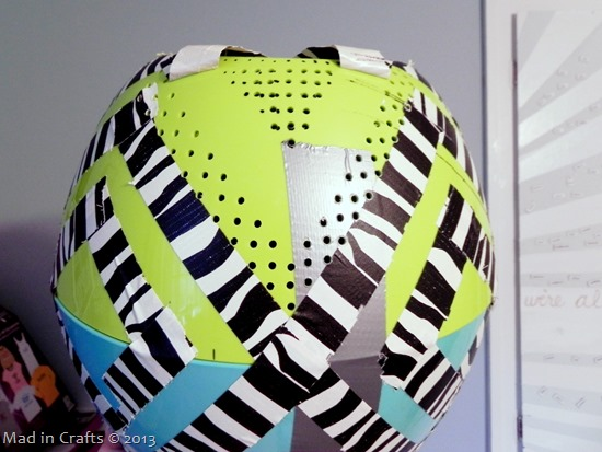 Remove Tape to Reveal Pattern