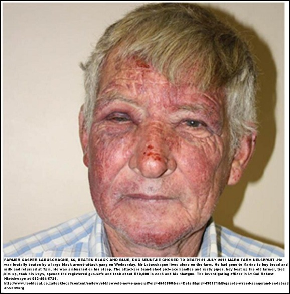 Labuschagne Casper Lowveld MARA farmer brutally beaten July212011
