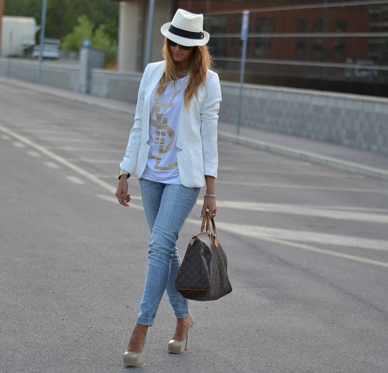 Zara Blazer, Yves Saint Laurent Tribtoo, Tribtoo, Dolce & Gabbana Lace, Dolce & Gabbana Jeans, Panama, Panizza Panama, Fashion Blogger, Best of Fashion Bloggers, Street style, Streetstyle, Fashion Blog, My Fantabulous World