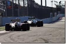 Raikkonen insegue Rosberg nel gran premio di Russia 2014