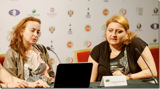 Antoaneta Stefanova and Elina Danielian, Round 7 Press Conference