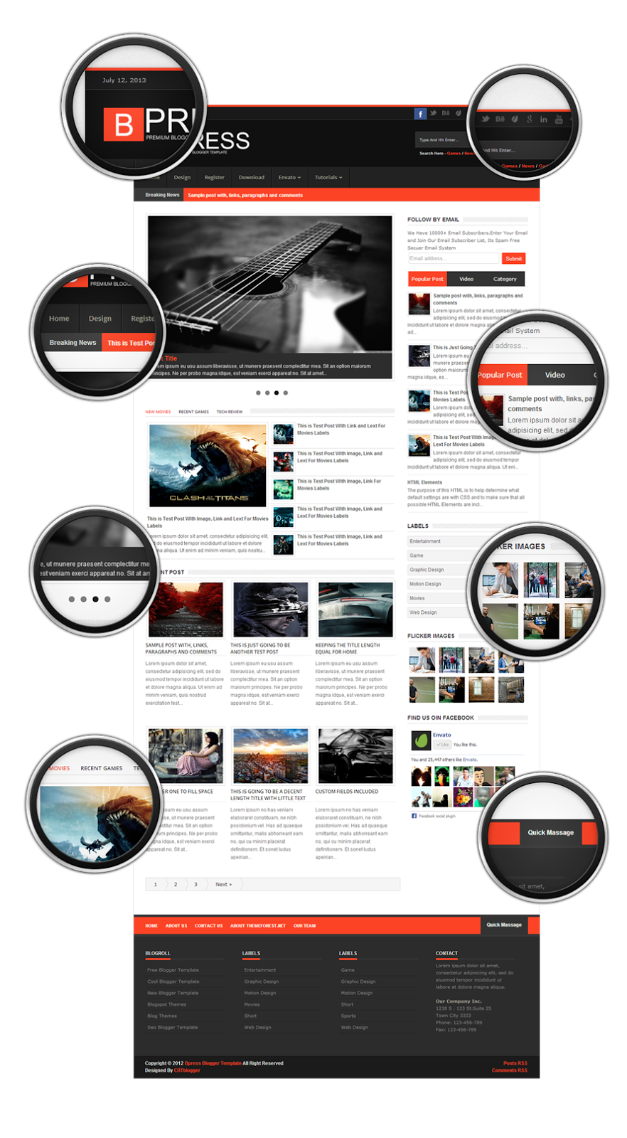 Premium and Creative Blogger Templates: Bpress - New & Responsive ...