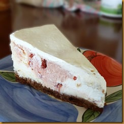 Cherry-dotted CheeseCake - R