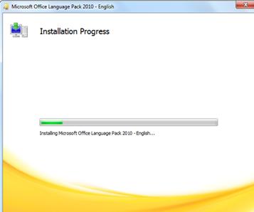 ขั้นตอนการติดตั้งเมนูภาษาไทยใน Microsoft office 2010