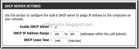 alokasi ip address dhcp