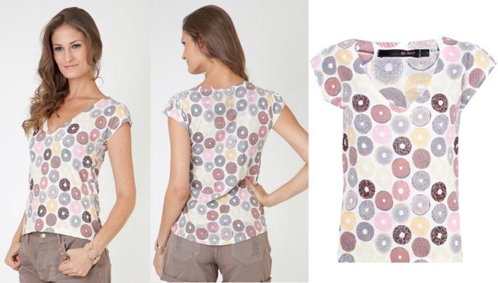 Camiseta Oh-Boy rosquinha donuts