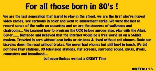 Kids in the 80s