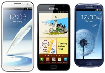 Galaxy note 2 vs galaxy s3 - note 1