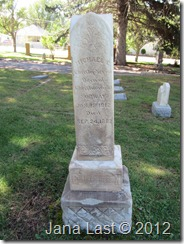 Grave Marker of the Michael Christopherson Family