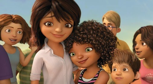 jennifer lopez and rihanna voices in HOME