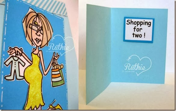 Bugaboo Digital Stamps - Pregnancy Shopping for two - Baby Shower Card - Latinas Arts and Crafts - Ruthie Lopez DT 2