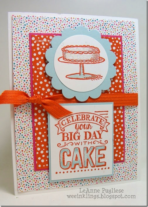 LeAnne Pugliese WeeInklings Mojo Monday Big Day Stampin UP