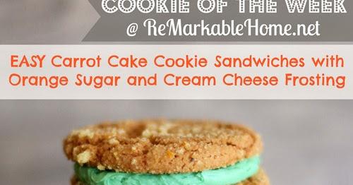Carrot Cake Cookie Sandwich Recipe