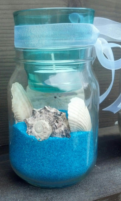 Easy Beach Themed Centerpiece