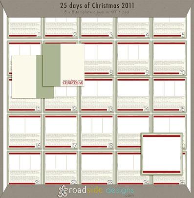 Free 25 Days of Christmas Templates