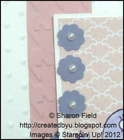 itty bitty punched flowers and embossed backgrounds
