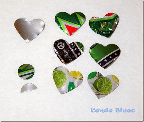 aluminum can hearts