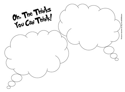 Oh_the_thinks_thought_bubble__Seuss_worksheet_obSEUSSed