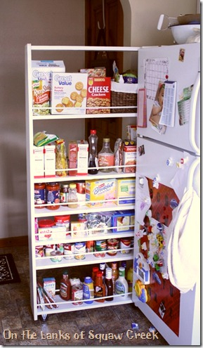 DIY pull-out pantry