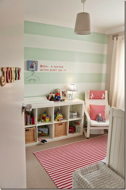 red-green-stripe-girl-nursery-wall
