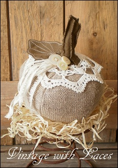 Fall Decoration - Fabric Pumpkin