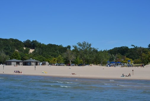 The beach at Mears State Park