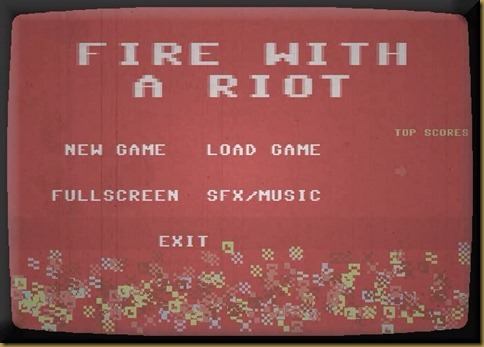 FIRE WITH A RIOT タイトル