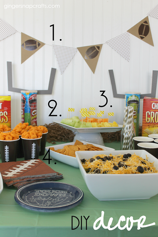 DIY Decor for a Football Party
