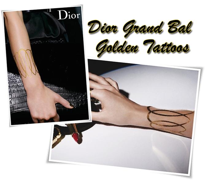 Dior Grand Bal Golden Tattoos
