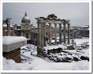 Foro Romano sotto la neve (febbr 2012)