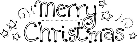 Monday Freebie Merry Christmas Word Art