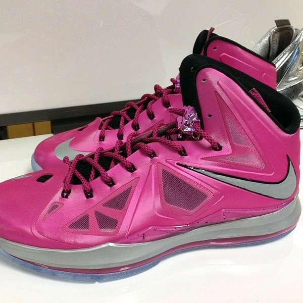 d693476f82d6 First Look at Nike LeBron X Think Pink   Kay Yow PE