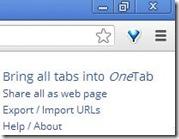 OneTab funzioni