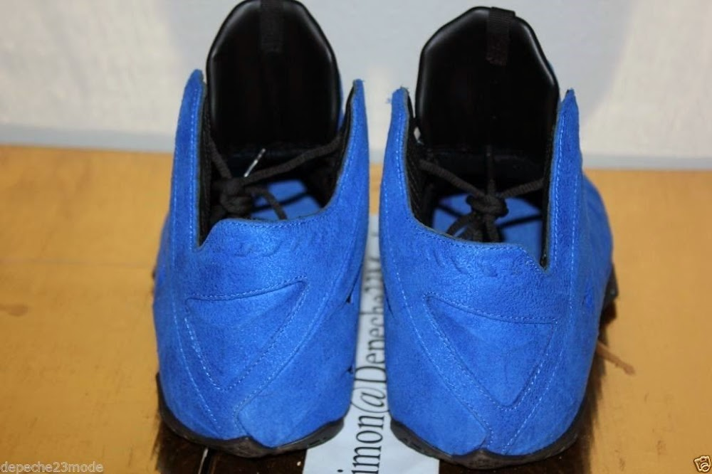 "Nike LeBron XI EXT ""Blue Suede"" Sample – Up Close ..."