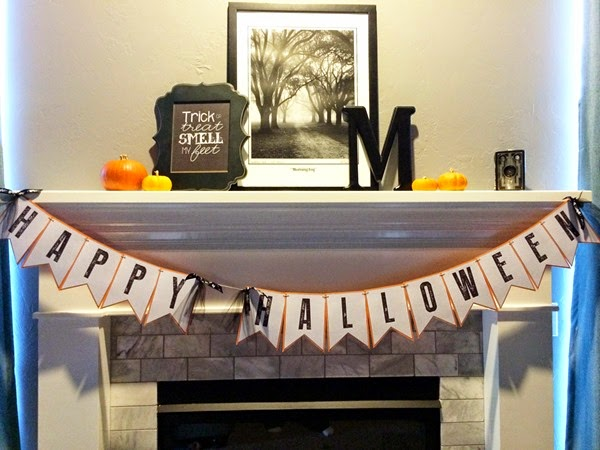 Halloween Banner Mantle